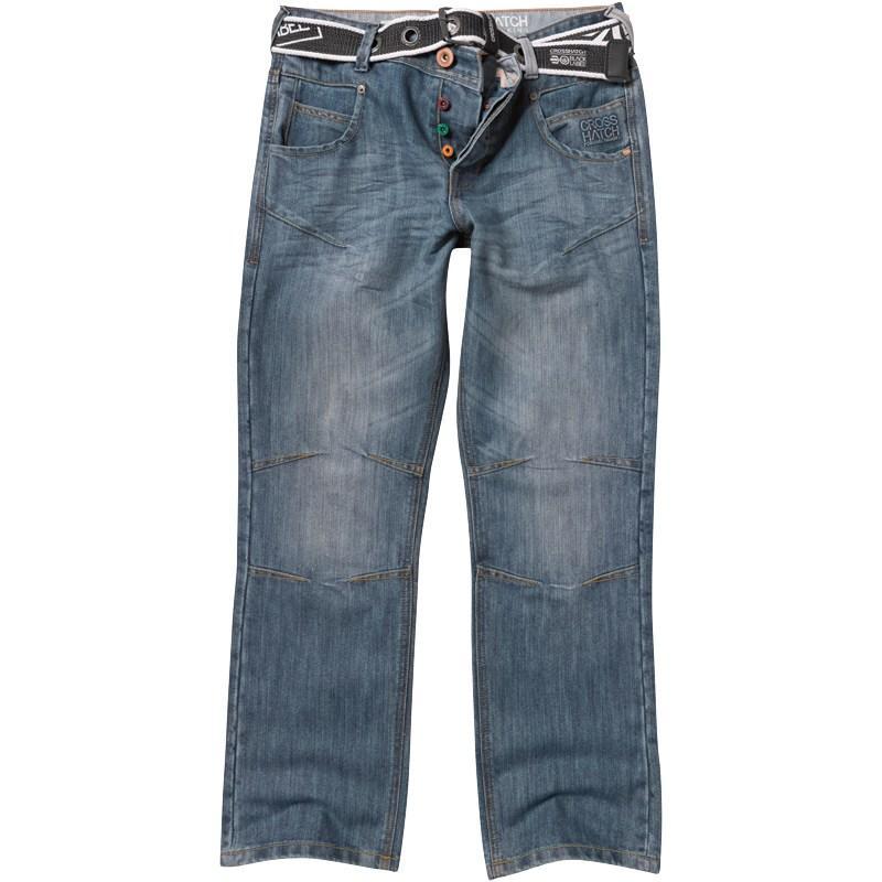 Crosshatch Mens Oakland Jeans Stonewash