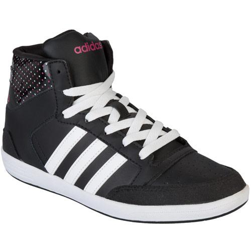 Boty Adidas Neo Womens Neo Hoops Mid Trainers Black