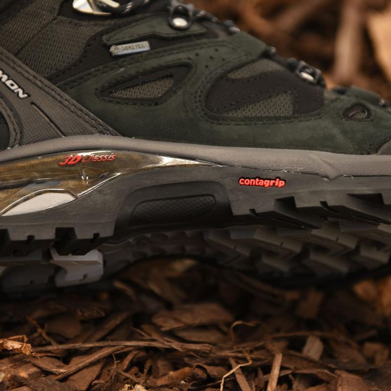 Boty Salomon Comet 3D GTX Mens Walking Boots Asphalt/Black, Velikost: UK9 (euro 43)