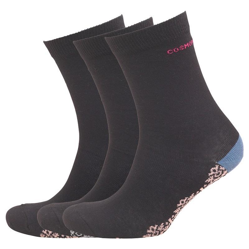 Ponožky Cosmopolitan Womens Three Pack Socks Black/Multi