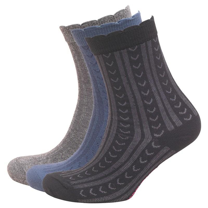 Ponožky Cosmopolitan Womens Three Pack Socks Black/Navy/Grey