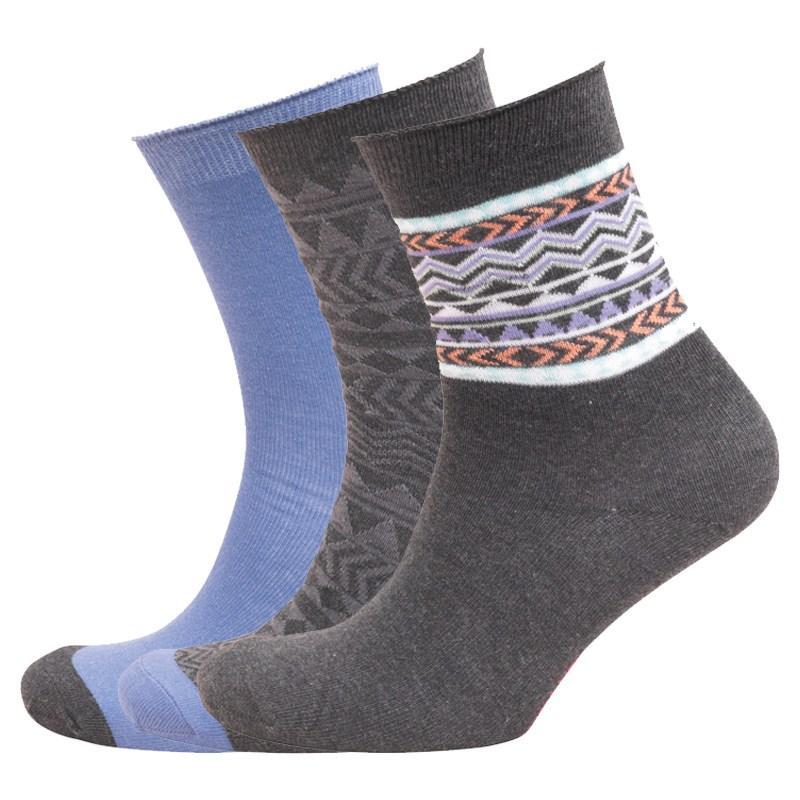 Ponožky Cosmopolitan Womens Three Pack Socks Black/Purple/Multi