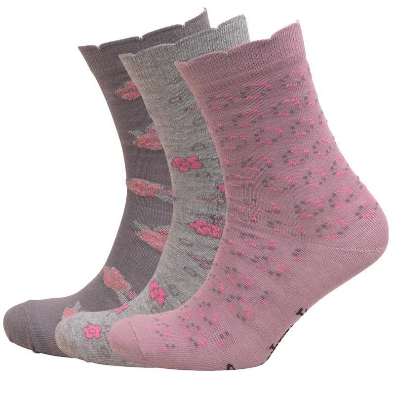 Ponožky Lovestruck Womens Three Pack Socks Grey/Pink/Brown