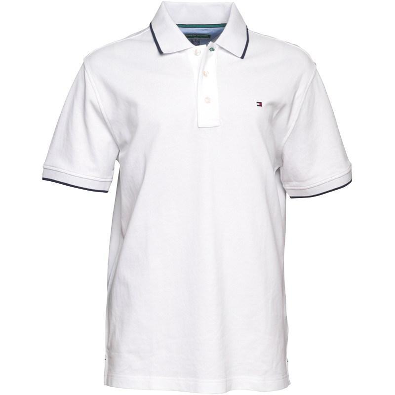Tommy Hilfiger Mens Cotton Pique Polo White