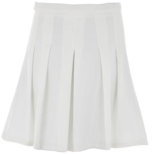 Sukně Glamorous Womens Pleat Skirt Cream