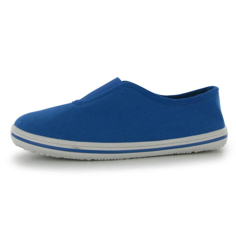 Boty Slazenger Infants Canvas Slip on Shoes Active Blue