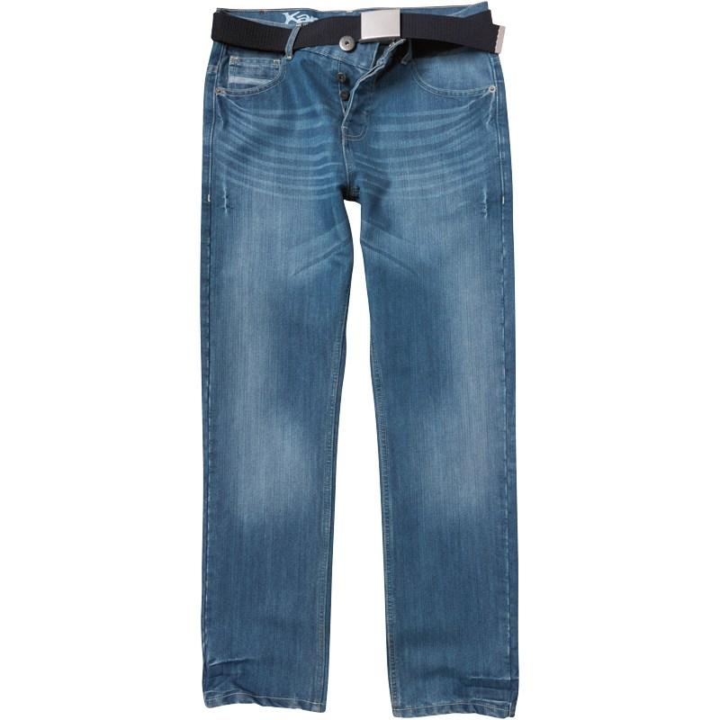 Kangaroo Poo Mens Straight Fit Jeans Light Wash