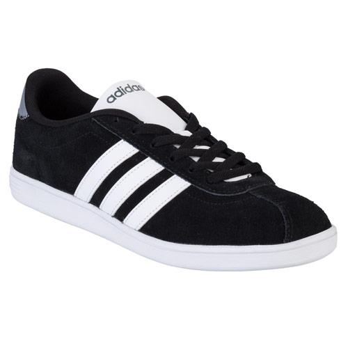 Boty Adidas Neo Mens Vlneo Court Suede Trainers Black