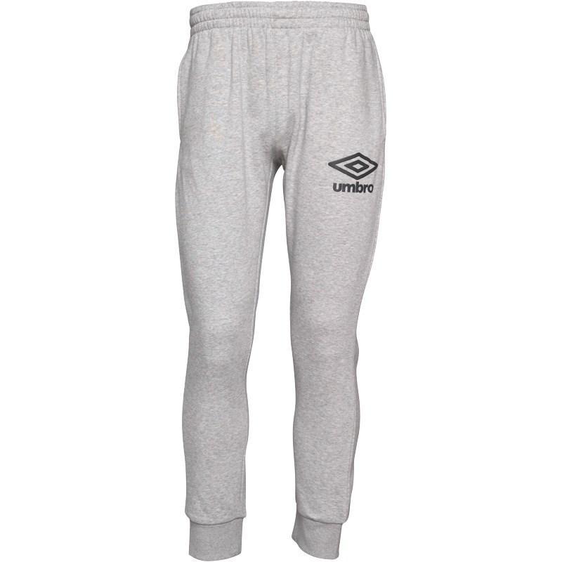 Tepláky Umbro Mens Slim Cuffed Sweat Pants Grey Marl/Black