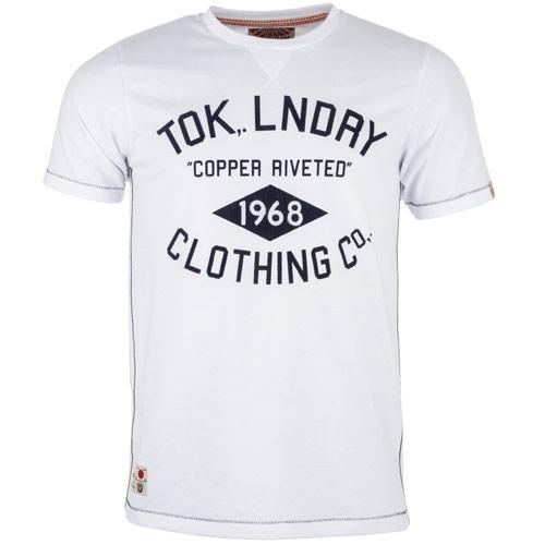 Tričko Tokyo Laundry Mens American Retro T-Shirt White