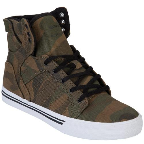 Boty Supra Junior Boys Skytop Trainers Green