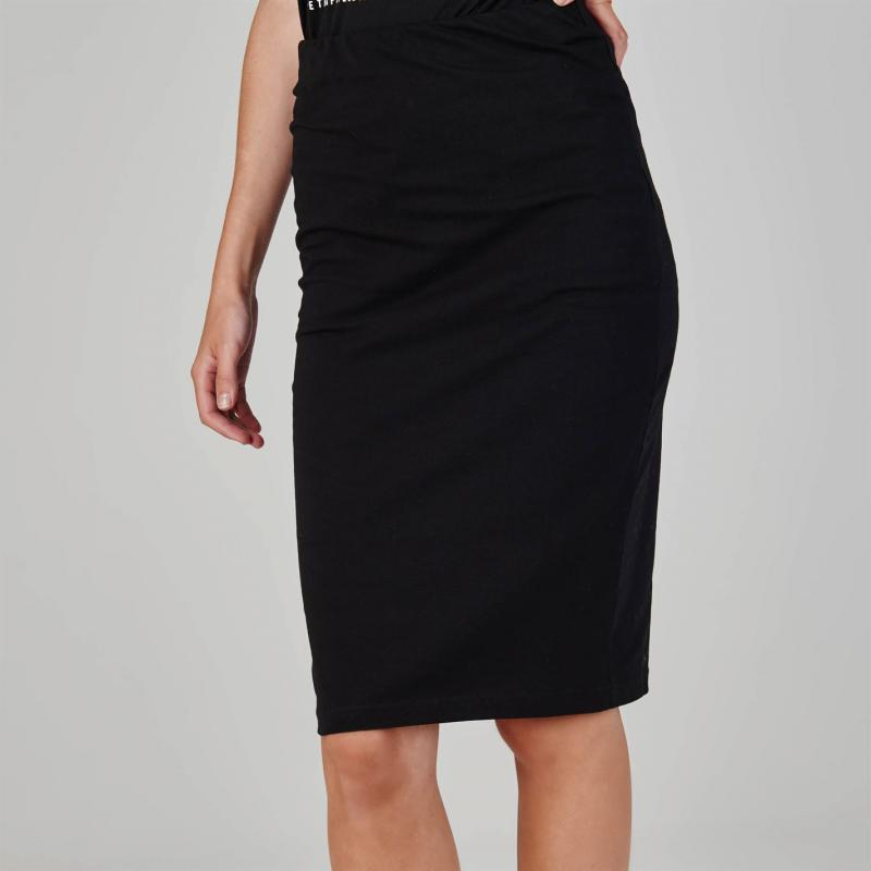 Šaty Essentials Bodycon Midi Skirt Black