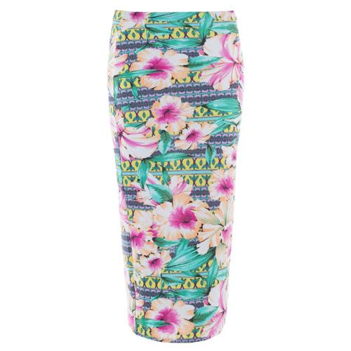 Sukně Glamorous Womens Tropical Print Skirt Floral