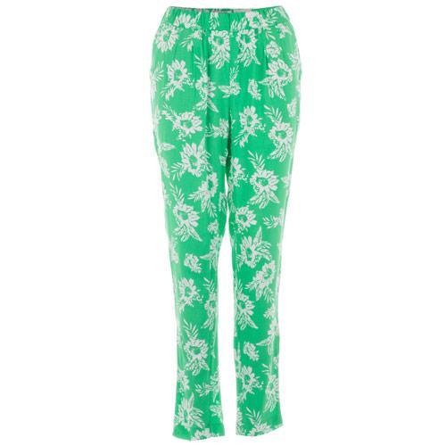 Kalhoty Vero Moda Womens Easy NW Loose Pants Green