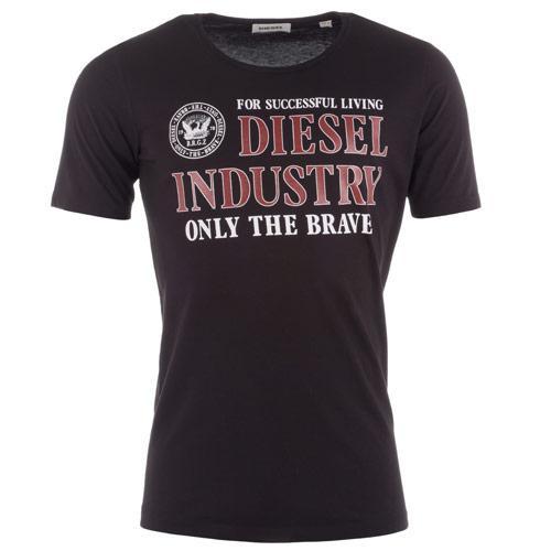 Tričko Diesel Mens T-Webnola T-Shirt Black