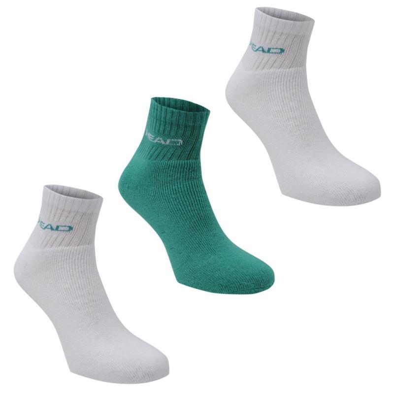 Ponožky HEAD Short Crew Socks 3 Pack Sea Green
