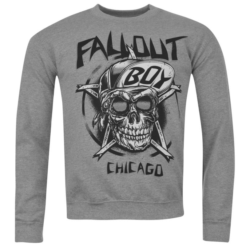 Mikina Official Fall Out Boy Sweatshirt Mens Skull, Velikost: S