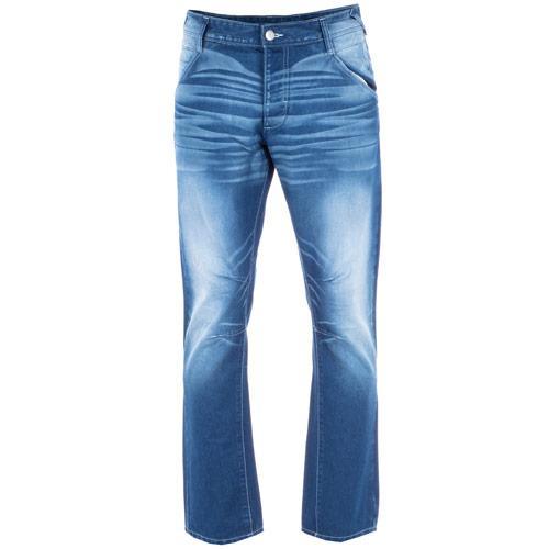 Voi Jeans Mens Jadon Regular Fit Blue Jeans Blue