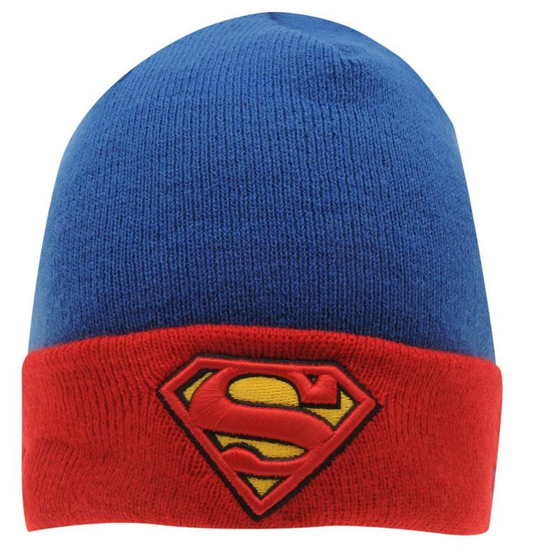 New Era Superman Cuff Beanie Blue/Red