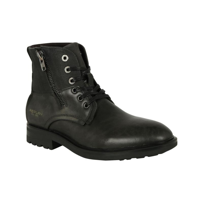 Boty Replay Nest Zip Mens Boots Charcoal