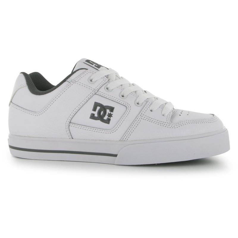 Boty DC Pure Mens Skate Shoes White/Grey