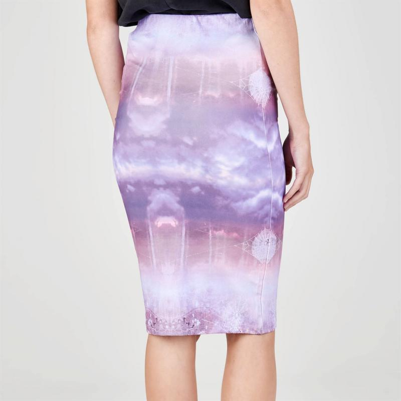 Šaty Firetrap Blackseal Midi Skirt Purple Print
