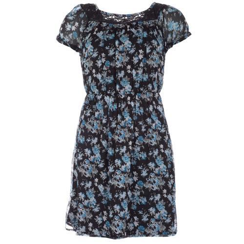 Šaty Vero Moda Womens Lucy Flower Short Dress Black