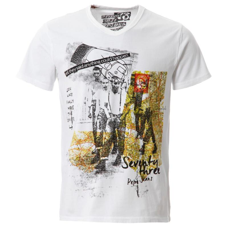 Tričko Pepe Jeans Covent T Shirt Sn52 White
