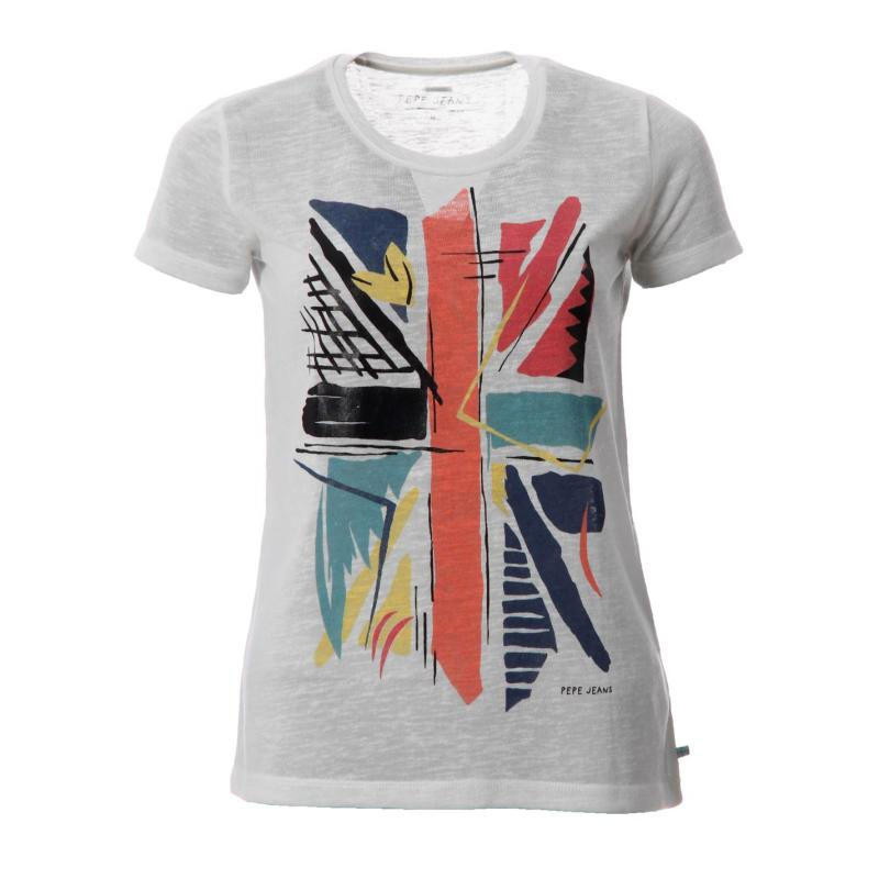 Pepe Jeans Cruz T Shirt Lds52 White