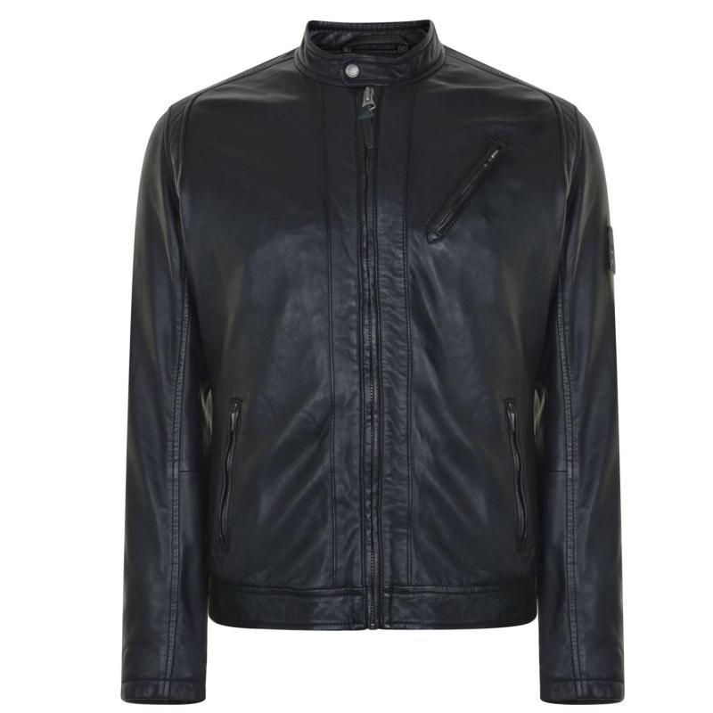Bunda Pepe Jeans Leather Jacket Combat Green
