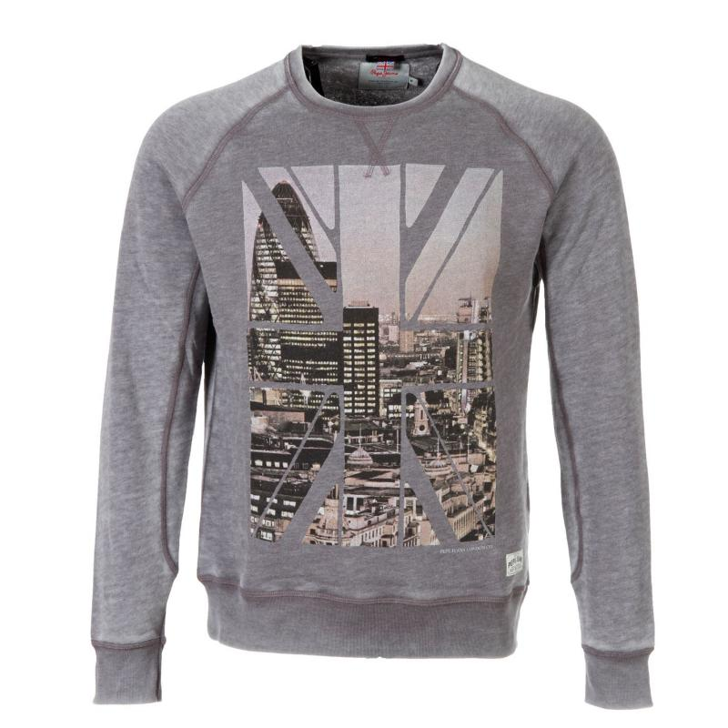 Mikina Pepe Jeans Swt Beasley Snr 44 Ash Grey