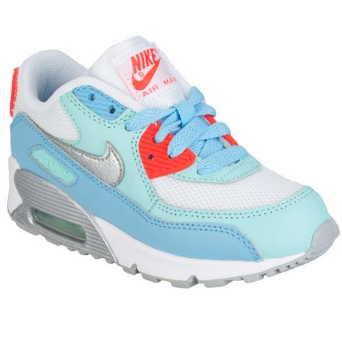 Nike Children Girls Air Max 90 Mesh Trainers White