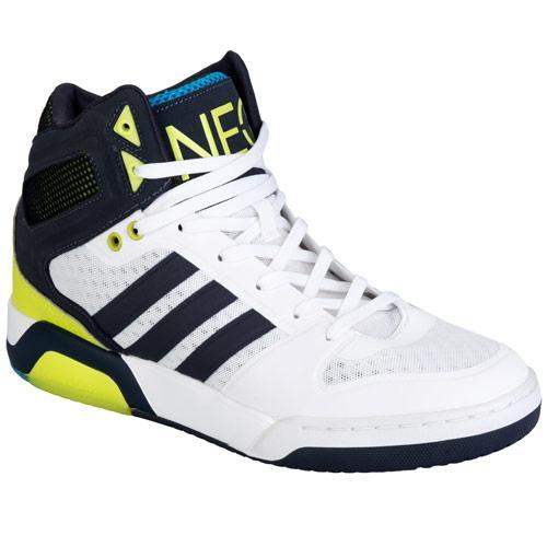 Boty Adidas Neo Mens BB9ties Hi Top Trainers White Black