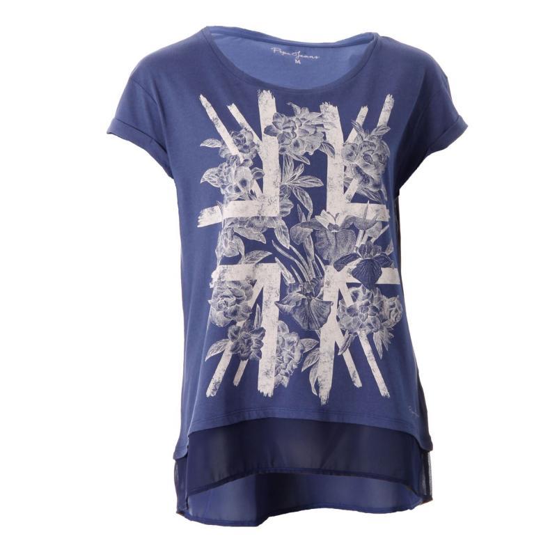 Pepe Jeans Venice T Shirt Lds52 Blue