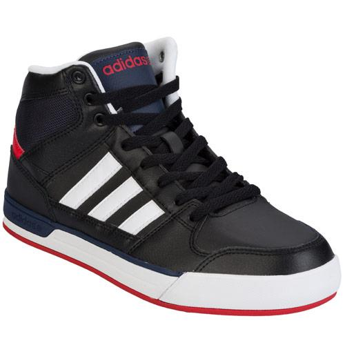 Boty Adidas Neo Mens Basketball Neo Avenger Mid Top Trainers Black-White