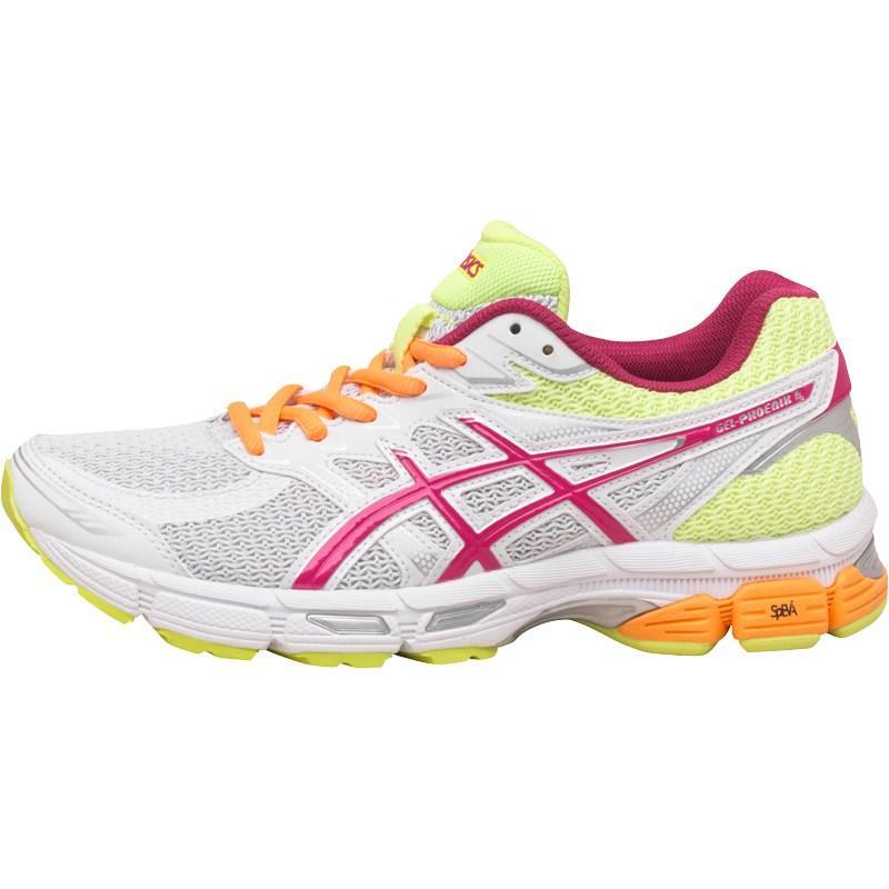 Asics Womens Gel Phoenix 6 Stability Running Shoes White/Hot Pink