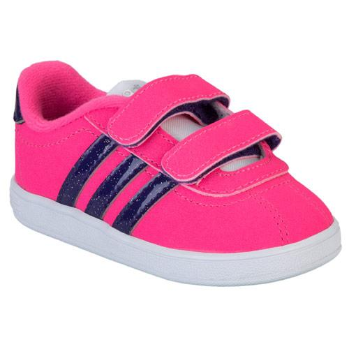 Adidas Neo Infant Girls VL NEO Court Trainer Pink