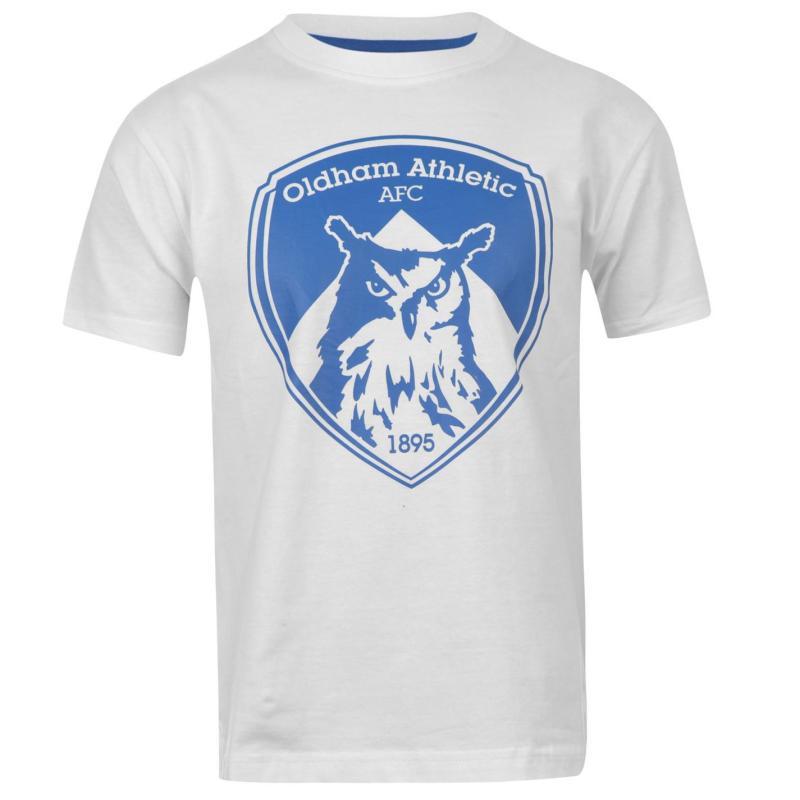 Tričko Team Athletic Crest T Shirt Infants White/Blue
