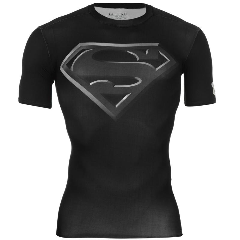 Under Armour Armour Heat Gear Hero Baselayer Mens Superman Black