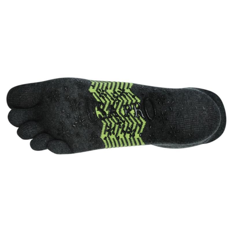 USA Pro Toe Socks Ladies Charcoal/Lime