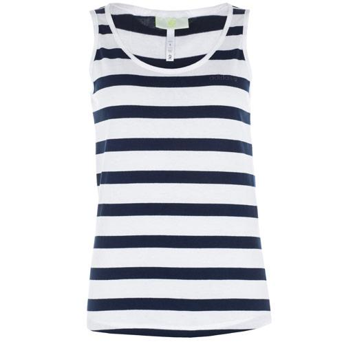 Adidas Womens Stripe Tank Vest Navy