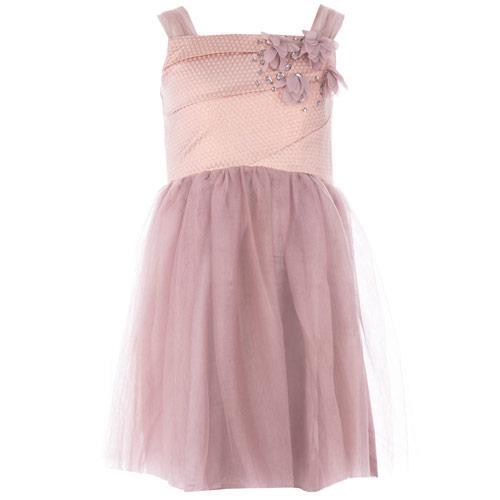 Šaty Little MisDress Junior Girls Chiffon Party Dress Pink
