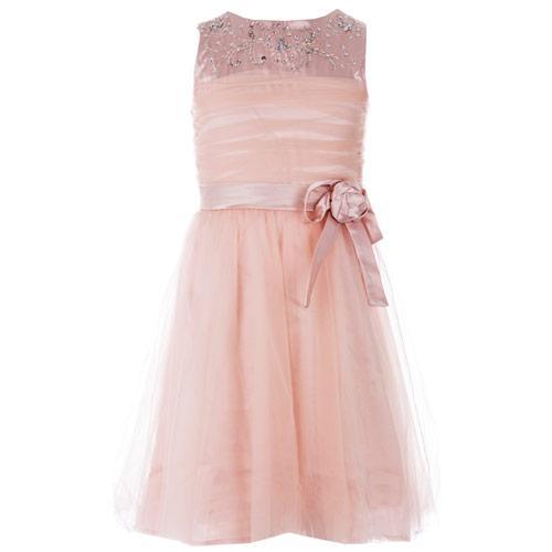 Šaty Little MisDress Junior Girls Embellished Tulle Dress Dusky...