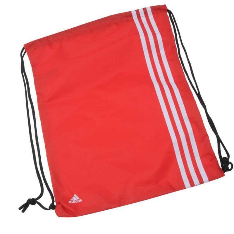 adidas 3 Stripe Gymsack Red/White