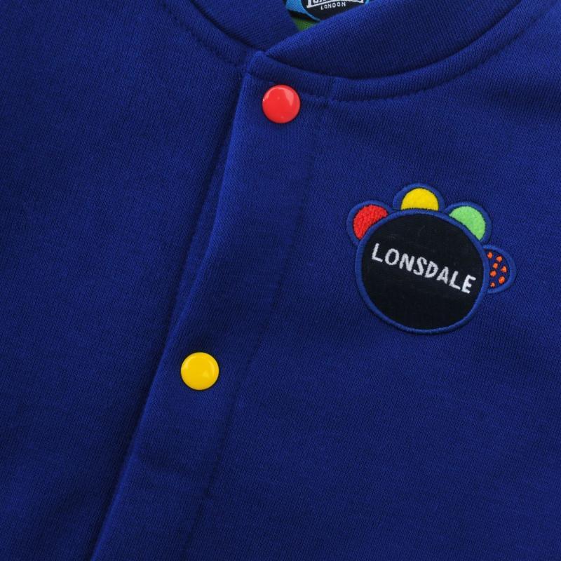 Tepláky Lonsdale Three Piece Baby Jogger Set Baby Boys Blue/Green