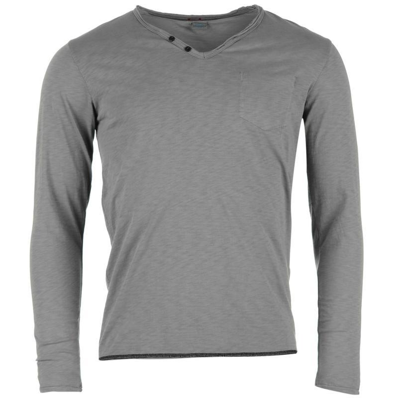 Tričko Replay T Shirt Mens Grey, Velikost: S