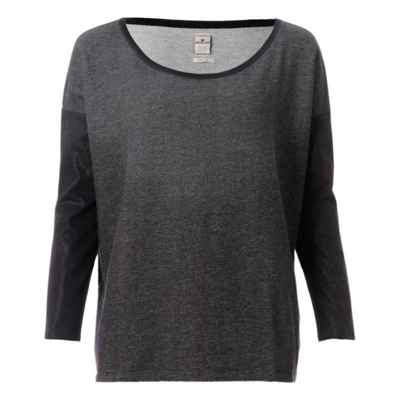 Svetr Replay Sweatshirt Grey
