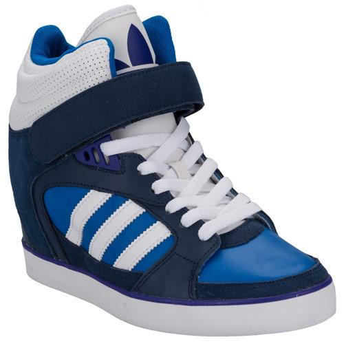 Boty Adidas Originals Womens Amberlight Up Hi Top Trainers Blue