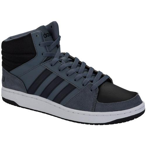 Boty Adidas Neo Mens VLHoops Mid Top Trainers Grey black