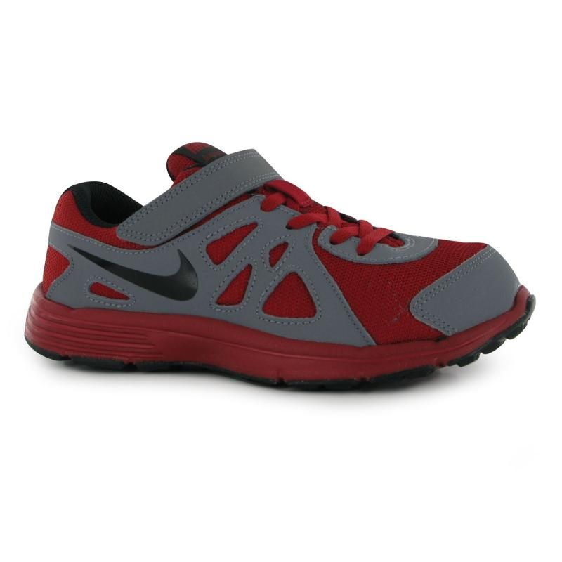 Boty Nike Revolution 2 Childrens Trainers Red/Black/Grey